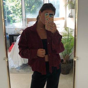 Maroon corduroy oversized jacket